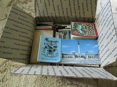 Lot of 70+ US & Europe postcard packets from circa 1910s through 1980s