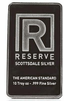 10 oz Silver Bar RESERVE by Scottsdale - 10 Troy oz .999 Silver Bullion #A200