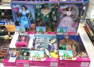 8 - Barbie & Ken Wizard Of Oz Dolls - Dorothy Glenda Lion Tinman & Scarecrow + 3