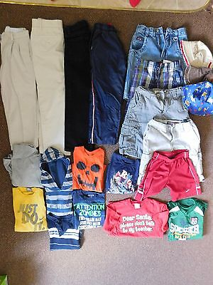 BOY CLOTHES 21 Piece Mixed Lot SIZE 6 to SIZE 8 Shorts Shirts Pants Hats