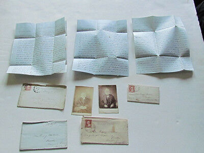 1850's Rachel Prout Rockville Maryland letters to Roxey Watson with cdv photo's