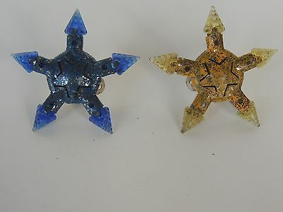 Old Christmas c 6 bulb Kristal star Glass lamps Vintage antique 1930s Working