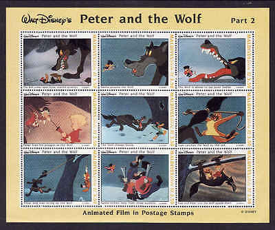 D1-Disney-Maldives-Sc#1926-unused NH sheet-Peter & the Wolf-1993-