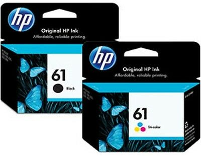 HP #61 Genuine Black & Color Ink Cartridges Combo New Sealed Retail Box 2018