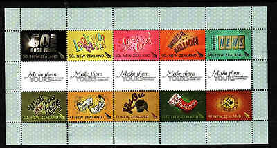 D1-New Zealand-Sc#2161-unused NH block-Greeting stamps-2007