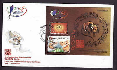 D1-New Zealand-Sc#2171c-FDC-Year of the Rat-Animals-New Year 2008-