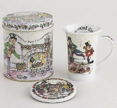 Paul Cardew Design Alice Wonderland Tea Party 14 oz Mug Coaster Decorative Tin