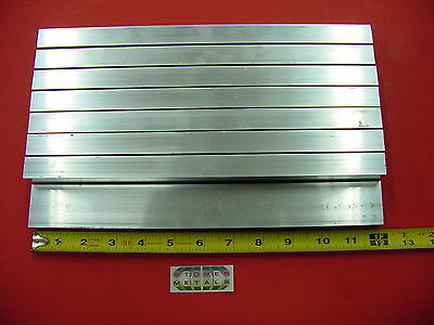"8 Pieces 3/4""x 1-1/2""x 1/8"" Wall ALUMINUM RECTANGLE TUBE 6063 T52 x 12"" Long"