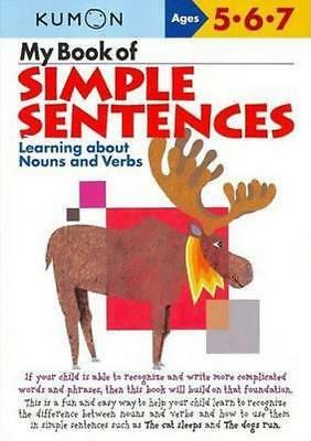 NEW My Book of Simple Sentences By KUMON PUBLISHING Paperback Free Shipping
