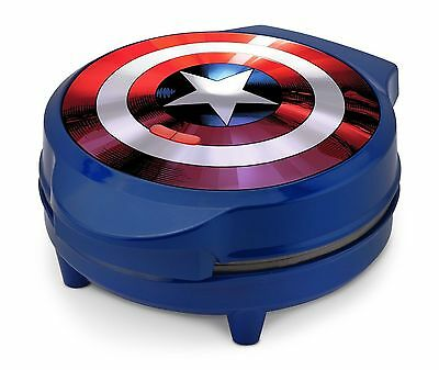 "Marvel Captain American Shield Waffle Maker 7"" Round Mva-278 New In Box"