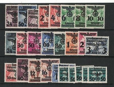 1940 Poland General-Gouvernement Cat. 14/39 muh set 26 Rare fresh clean