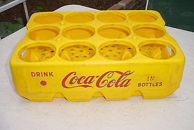 Coca Cola Yellow Plastic Carry Tray Crate *