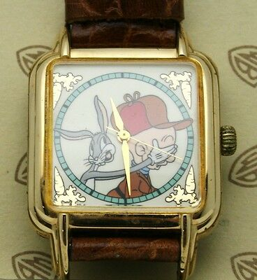 Porky Pig Bugs Bunny Watch Warner Bros. Rectangular 20mm X 30mm Watch Vintage