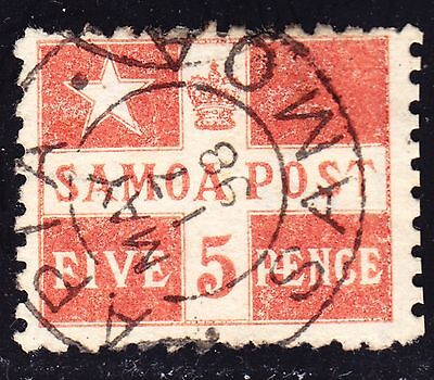 Samoa Scott # 23 a)  perf 11  F to VF used with a splendid SON cds.