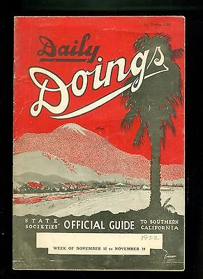 1922 Daily Doings So California Events Sites Los Angeles Great Ads