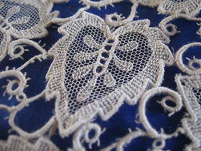 Rare Antique Chemical Lace Leaf Pattern French Doll Clothes Trim Appliques
