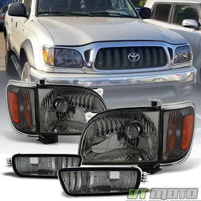 For Smoked 2001 2004 Toyota Tacoma Headlights Corner Lamps Per Lights 01