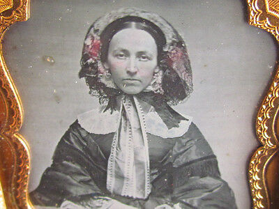 victorian woman dressed for winter daguerreotype photograph