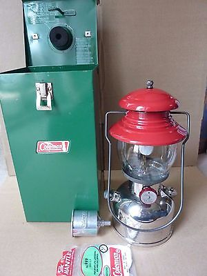 Coleman 200 Lantern & case - made in Canada 1957 - cleaned & tested, a beauty!