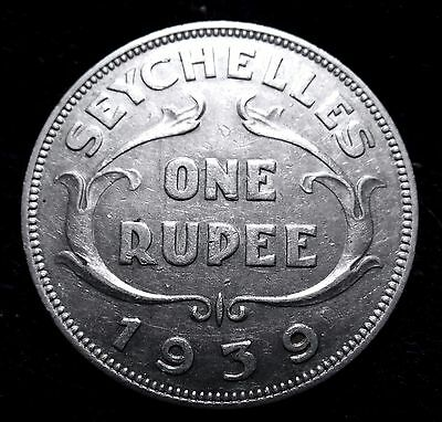 1939 Seychelles - British Coin One Rupee  Key Date  A18-805