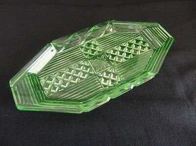 20cm Art Deco Uranium Glass Tray