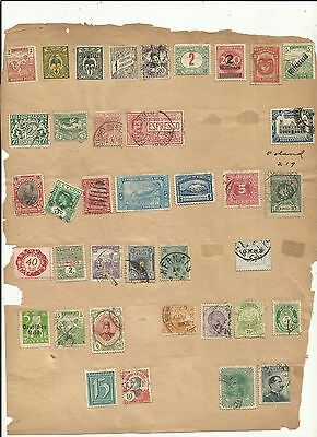 Old Approval Pages (18) ~ Worldwide Hinged (Faults)