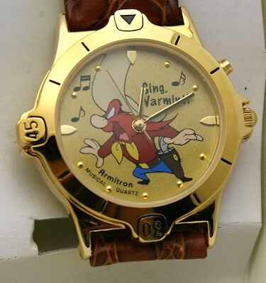 Yosemite Sam Watch Warner Bros. Musical 36 mm Watch Vintage New