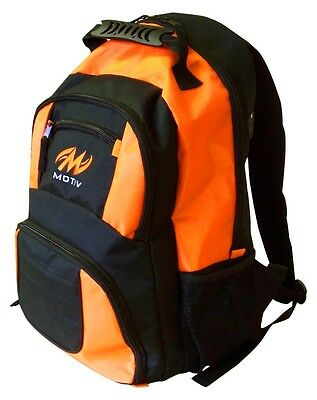 Motiv Bowling Ball Company Backpack Color Black Orange