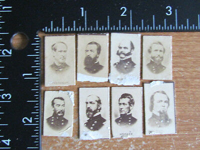 Civil War period gem size albumen Generals photographs