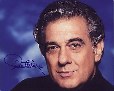 Placido Domingo THE THREE TENORS  hand signed 8x10 autograph photo signed
