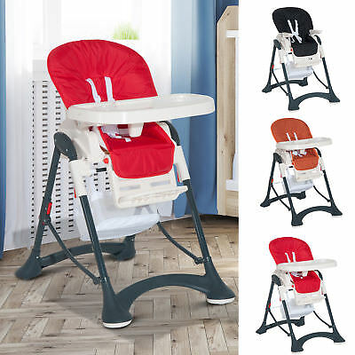 High Chair Baby Kid Infant Toddler Foldable Feeding Seat Compact Mat Safety Belt