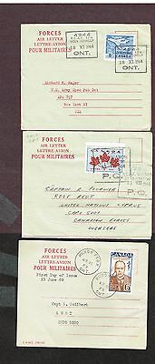CANADA AIRMAIL MILITARY AIR LETTER RCAF FDC's ETC (CT24