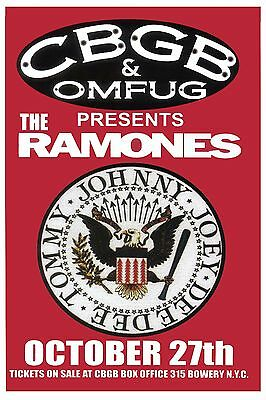 Punk: The Ramones at CBGB's in New York Concert Poster  12x18