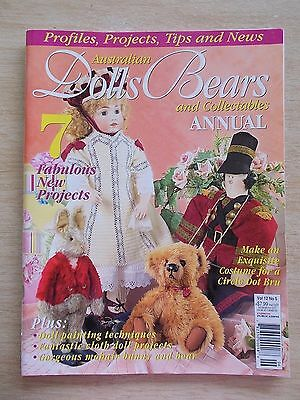 ADB&C Vol 12 #5~Doll & Bear Patterns~Rabbit~Faberge Bunnies~Bru~Fairy~Soldier