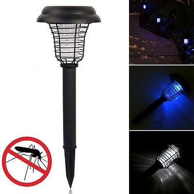 Solar Powered LED Light Mosquito Pest Zapper Insect Killer Lamp Garden Lawn Ts#