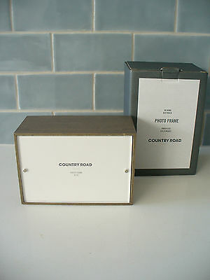 BRAND NEW IN BOX - COUNTRY ROAD BENNETT PHOTO FRAME - PHOTO SIZE 4 x 6 inches
