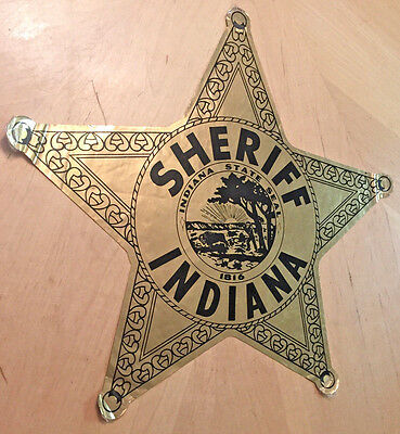 Sheriff Indiana  Department Car Door Decal  Indiana State Seal 1816