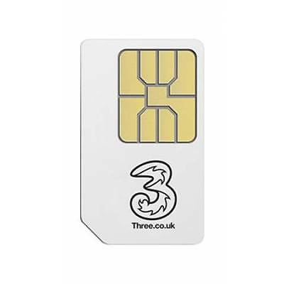 Three(3) Pay As You Go PAYG Pre-Pay Mobile Phone Sim Card on 3(Three) Network