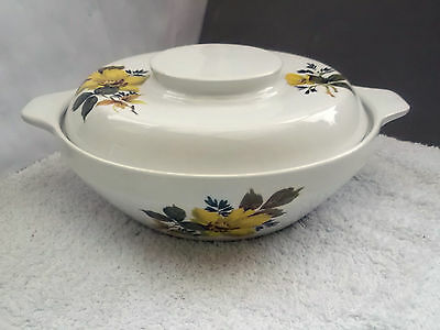 Royal Tudor Ware, Barker Bros, Lidded Tureen With A Yellow Flower Pattern