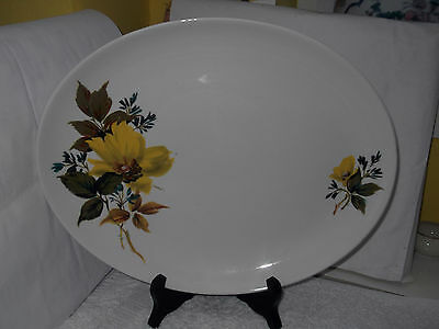 Royal Tudor [Barker Bros] Oval Platter In Samantha Pattern   Yellow Flowers