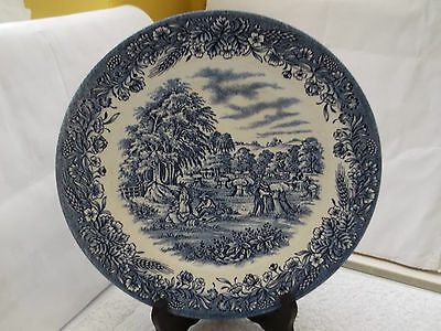 Blue And White Dinner  / Decorative Plate By Churchill   Gathering The Harvest
