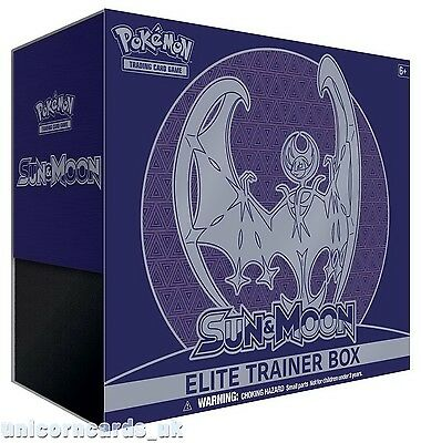 Pokemon TCG: Sun and Moon Elite Trainer Box - Lunala :: Brand New And Sealed Box