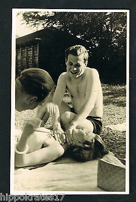 FOTO vintage PHOTO, Personen Strand Bademode people beach swimwear plage (55)d