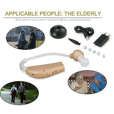 Rechargeable ear hearing aid mini device ear amplifier digital sound amplifiers+