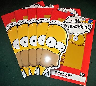 "Bundle Of 5 The Simpsons Homer No Opinion Notebook Sticker 15,16"" Protector Skin"
