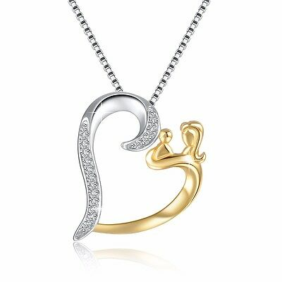 European Jewelry Gold Mother 925 Silver Charms Pendant Fit Sterling Necklace