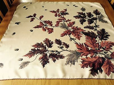 VINTAGE HAND ROLLED SILK SCARF.  THE OAK!  29 x 29 INCHES.  UNUSUAL!