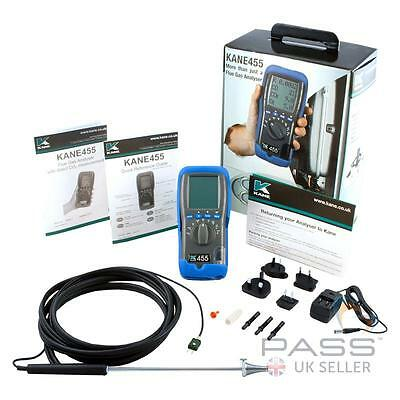 Kane 455 Flue Gas Analyser incl. Calibration, Probe, Batteries, Charger / UK
