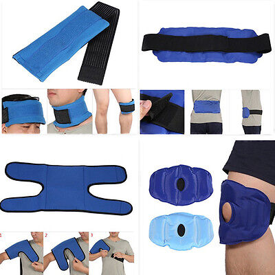 Ice Pack Hot/Cold Pack Gel Pack Wrap Shoulder Head Knee Pain Sprains Relief LS