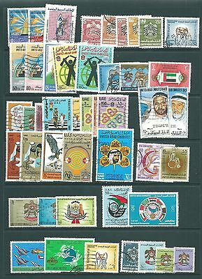 UNITED ARAB EMIRATES - Useful collection of postally USED stamps